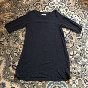 American Apparel Black Mini Shift Dress size M/L